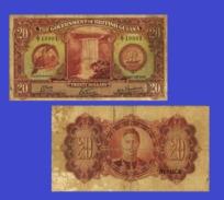 BRITISH GUIANA 20 DOLLARS 1942 - Copy - Copy- Replica - REPRODUCTIONS - Billets