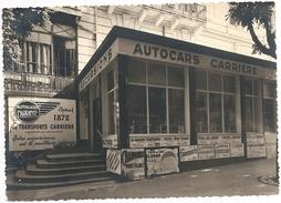 73-CPSM-AUTOCARS CARRIERE AVENUE DE LA GARE AIX LES BAINS - Aix Les Bains