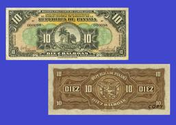 PANAMA  10 Balboa  1941 - Copy - Copy- Replica - REPRODUCTIONS - Panama