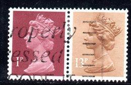 R1585 - GRAN BRETAGNA , Coppietta Usata 1 + 13 1/2 Pence - Machins