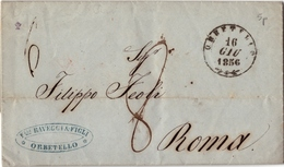 TOSCANA - LETTERA DA ORBETELLO 1856 - Italy