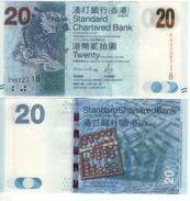 HONG KONG  New $ 20  Standard Chartered   (dated 1.1.2016 )  Pnew - Hong Kong
