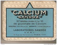 BOITE MEDICAMENT CALCIUM SANDOZ - Matériel Médical & Dentaire