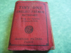 Ancien Mini Dictionnaire De Poche/Tiny One /English-French/Garnier Fréres /Paris/Imp Belgique/Vers 1960     DIC3 - Woordenboeken