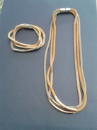 Ensemble Trois Coleurs - Chaine 21cm Et Bracelet 7x7 - Gioielli & Orologeria