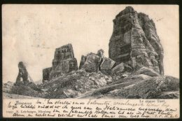 Austria 1908 Italy Ampezzo The Five Rocks View Picture Post Card To Holland # 220 - Autres