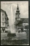 Austria 1921 Graz Bismarckplatz Fountain View Picture Post Card To Sweden # 190 - Austria