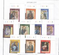 Vaticano 2002 Dipinti Vergine Maria  N.10 Valori Scott.1204/1213 See Scans - Vatican