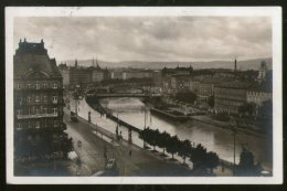 Austria 1929 Vienna Telephone Office River Bridge View Picture Post Card To Finland # 150 - Austria