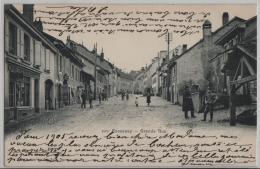 Cossonay - Grand Rue - Animee - Photo Des Arts No. 1070 - VD Vaud