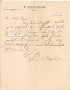 Rev. John -Johann- Nageleisen - 1910 Personal Letter Signed,  Writes In German From St. Nicholas Rectory - Rare !!! - Documentos Históricos