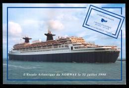 LA ROCHELLE  Le Norway Ancien Paquebot FRANCE Au Port De La Pallice Le 31 Juillet 1998 édition De La Chambre De Commerce - La Rochelle