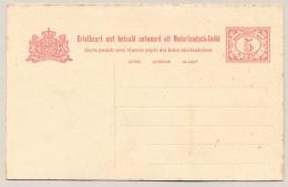 Nederlands Indië - 1914 - 5+5 Cent Vürtheim II, Briefkaart G24 - Ongebruikt - Roest/toning - Niederländisch-Indien