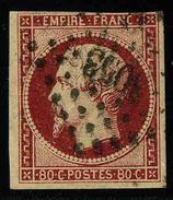 FRANCE - YT 17A - SECOND EMPIRE NAPOLEON III - TIMBRE OBLITERE - 1853-1860 Napoleone III