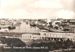 08/FG/17 - RAVENNA - Panorama Della Stazione Ferroviaria E Del Porto - Ravenna