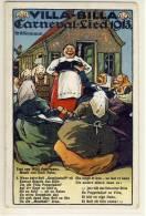VILLA BILLA Artist PC Liedkarte, Carneval - Lied 1913, Cöln  Bahnpost 1913 - 1900-1949