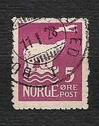 NORVEGIA 1925 - Spedizione Di Amundsen Al Polo Nord - 5 öre - Yv:NO 103 - Usati