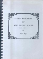 STAMP FORGERIES OF NEW SOUTH WALES SECOND EDITION BY MAVIS POPE OCTOBER 1995 110 PAGES RARISIME - Falsos Y Reproducciones