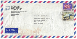 TI226  Malaysia 1981 Airmail Cover To West Germany - Tapirus, Flowers - Malesia (1964-...)