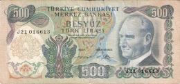 TURQUIE   500 Turk Lirasi   (1/9/1971)   (2. Sign.)   P. 190 - Turquie