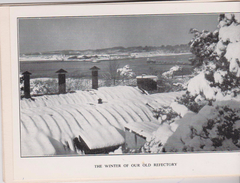 """Carte De Voeux 2 Volets 10x14 SCHOOL OF NAVIGATION University Of SOUTHAMPTON """"The Winter In Our Old Refectory"""" - Barche"""