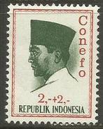 Indonesia - 1965 President Sukarno (Conefco) 2+2 MNH **    Sc B168 - Indonesia