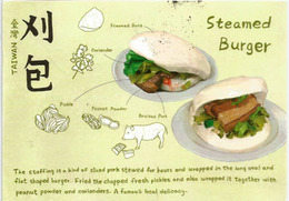 Taïwan Traditional Foods: Steamed Burger .  Postcard Addressed To ANDORRA, With Arrival Postmark - Formosa