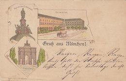 Vorläufer 1891 !!  - Gruss Aus München    (A34-160117) - Gruss Aus.../ Grüsse Aus...