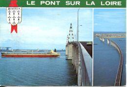 N°53371 -cpsm Le Pont Sur La Loire -navire De Commerce- - Commerce
