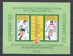W170 BULGARIA FOOTBALL SPAIN 1982 1BL MNH !!!BL122 22EURO!!! - World Cup