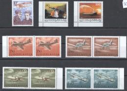 W173 JUGOSLAVIA AVIATION 2SET+1STAMP MNH - Airplanes