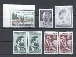 W181 JUGOSLAVIA ART FAMOUS PEOPLE 28,5 EURO 3STAMP+2SET MNH - Famous People