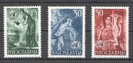 W183 1953 JUGOSLAVIA ART #714-716 !!! MICHEL 25 EURO 1SET MNH - Art
