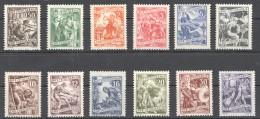 W191 1950 JUGOSLAVIA ART #628-639 !! MICHEL 70 EURO 1SET MNH - Art