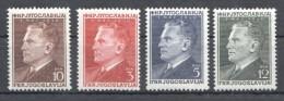 W193 1950 JUGOSLAVIA ART FAMOUS 605-608 MICHEL 30 EURO SET MNH - Art