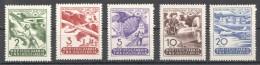 W194 1950 JUGOSLAVIA AVIATION #611-615 MICHEL 45 EURO SET MNH - Airplanes