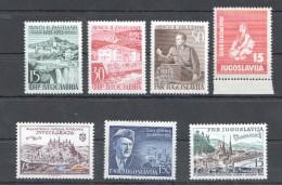 W206 1953 JUGOSLAVIA ARCHITECTURE 735-737 !!! 84 EURO 8 STAMPS MNH - Architecture