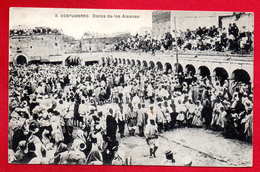 Maroc. Danses Folkloriques Durant La Fête Du Bélier. Franchise British Post Office Tangier 27.12.1913 - Tanger