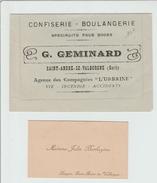 CARTE LETTRE PUBLICITAIRE De SAINT ANDRE DE VALBORGNE (30) + CARTE DE VISITE - Cartes De Visite