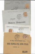 STORIA POSTALE REGNO - 20 CENT UMBERTO I° SU QUATTRO FRONTESPIZI - 1878-00 Umberto I