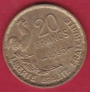 France 20 Francs G. Guiraud - 1950 - 3 Faucilles - SUP - France