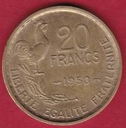 France 20 Francs G. Guiraud - 1950 - 4 Faucilles - SUP - France