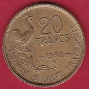 France 20 Francs G. Guiraud - 1950 B - 4 Faucilles - France