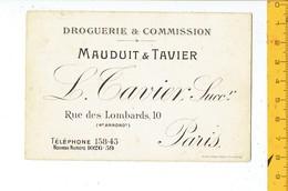 39729 - DROGUERIE & COMMISSION  MAUDUIT & TAVIER  PARIS - Cartoncini Da Visita