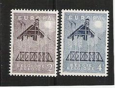 1957 Belgien Mi. 1070-1 **MNH - Europa-CEPT