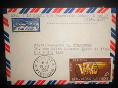 Viet Nam Lettre De Dalat 1954 Pour Paris, Joli Obliteration - Viêt-Nam