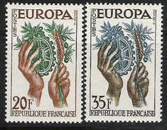1957 Frankreich  Mi. 1157-8 **MNH - Europa-CEPT