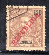 R1618 - ZAMBEZIA 1911 , Usato Yvert N. 65 - Zambezia