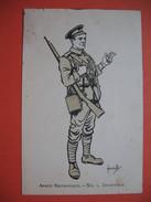 Armé Britanique. - N° 1, Infanterie  Signé : Hassall - Other Illustrators