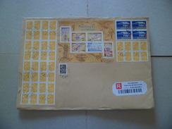 Lettre Recommandée R1 Sans AR Boye Le 19/02/2008 Les N° 3731 X 40 (Blocs 32 Et 8);3754; Bloc De 4 Du 2607: Bloc N°103 TB - Lettres & Documents